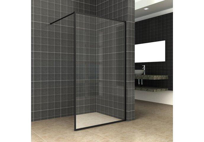 Inloopdouche Wiesbaden Square Stabilisatiestang Nano Coating 90x200 cm 10 mm Mat Zwart 20.3311