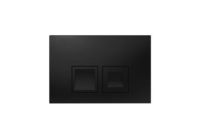 Drukplaat Geberit Delta 50 DualFlush Frontbediening Mat Zwart