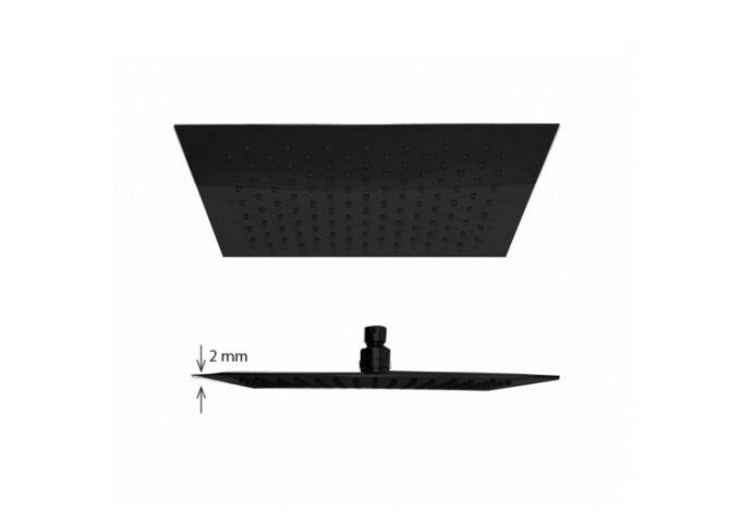 Regen douchekop Best Design Nero-Brause Vierkant 20 cm 304L Mat Zwart