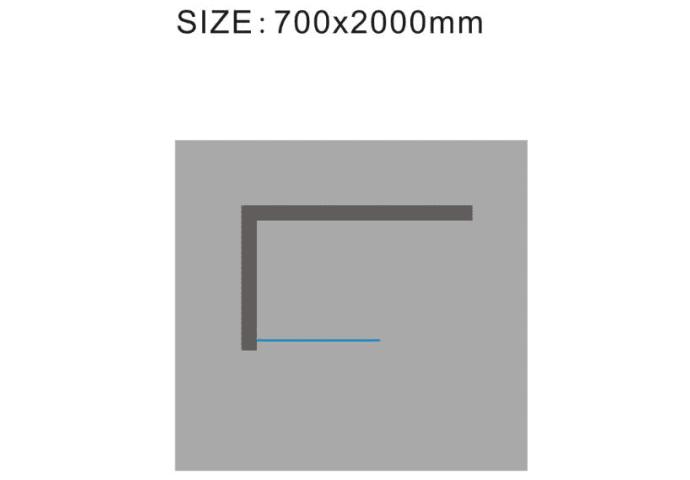 Douchewand Wiesbaden 10mm met middenband NANO coating (ALLE MATEN)