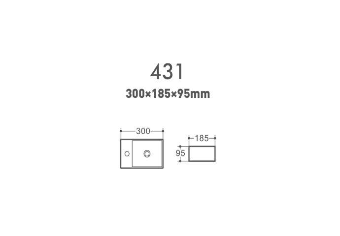Fontein Creavit Aloni 30x18,5x9,5 cm Keramiek Hoogglans Wit (kraangat links)