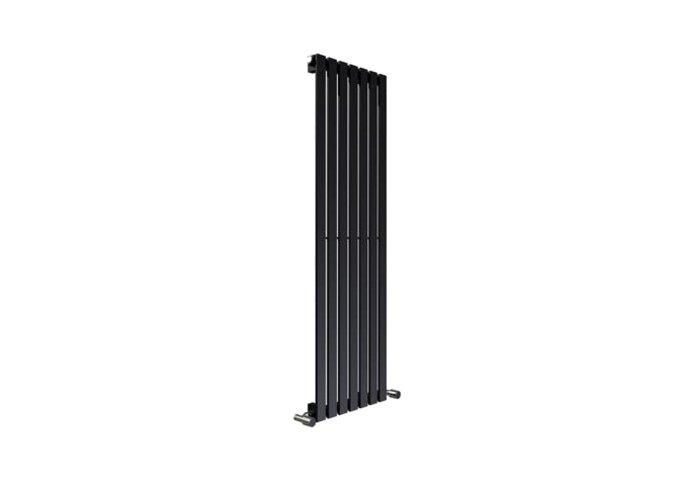 Designradiator Sanilux Idella 180x36cm Zwart 870 Watt (incl. bevestigingsset, blindstop en ontluchter)