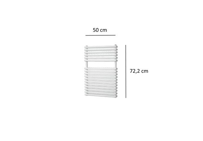 Designradiator Plieger Florian Dubbel 505 Watt Vier Aansluitpunten 72,2x50 cm Wit