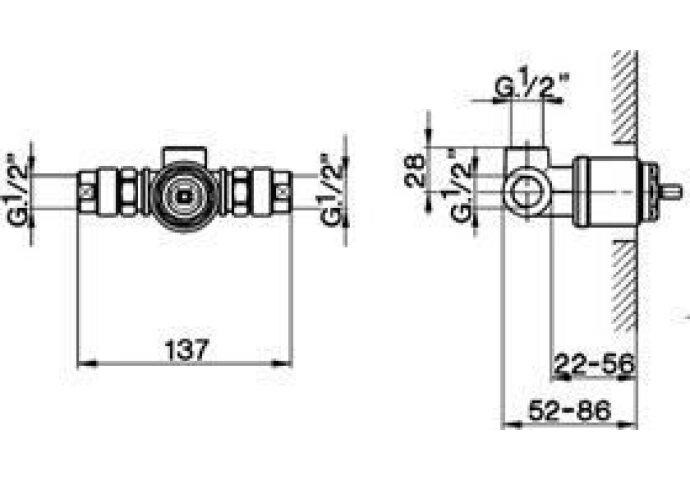 Cisal Less Inbouwdeel douchemengkraan ZA004310