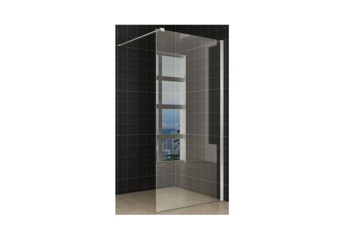 Wiesbaden Safety Glass 2.0 inloopdouche + muurprofiel 900x2000 10mm NANO glas