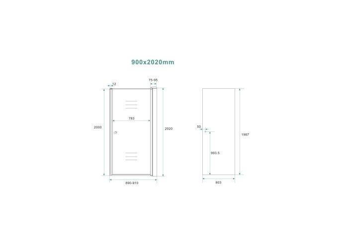 BWS Nisdeur Met Profiel 90x202 cm 8 mm NANO Omkeerbaar Rookglas