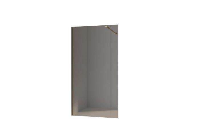 BWS Inloopdouche Pro Line Helder Glas Yellow Titanium Profiel en Stang (13 varianten)