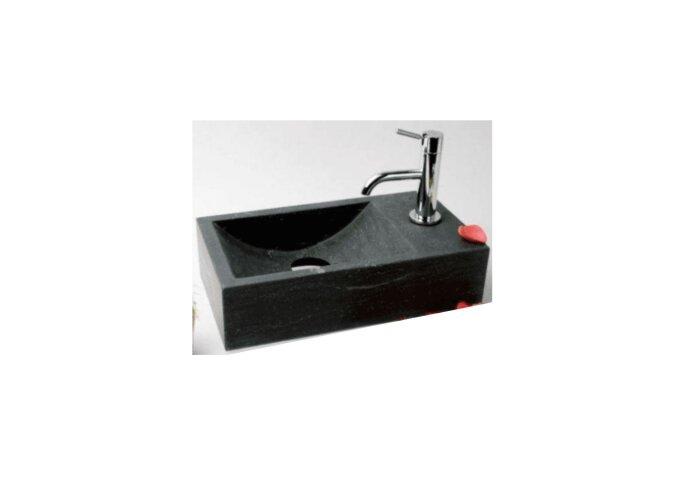 FonteinPack Recto hardsteen rechts 40x22x10cm (Keuze uit 18 kranen)