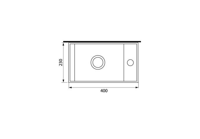 Fonteinset Natuursteen Nera 40x23x11 cm (kraangat rechts)
