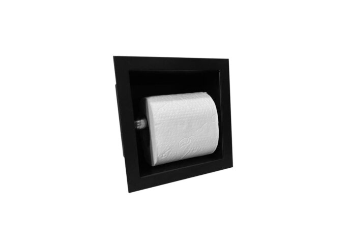 Toiletrolhouder Sanilux Inbouw Mat Zwart 13.5x13x12 cm