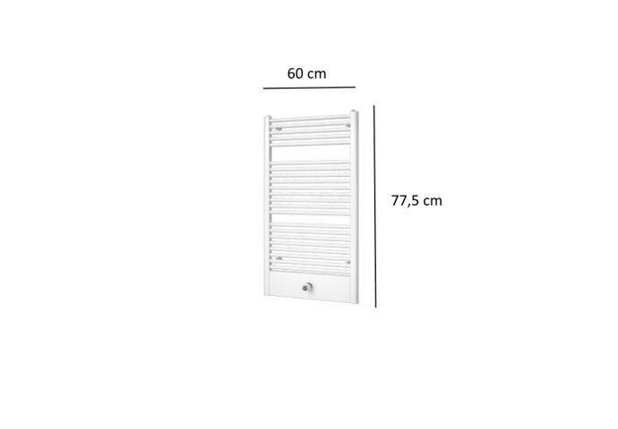 Designradiator Plieger Lucca 415 Watt Middenaansluiting 77,5x60 cm Wit