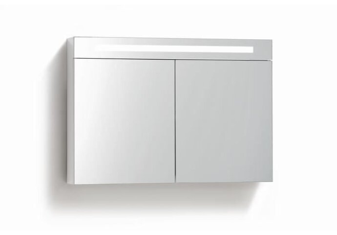 Spiegelkast met verlichting & wcd 120 cm