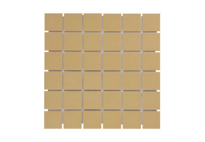 Mozaïek London 30.9x30.9cm Onverglaasd Porselein, Mat Antislip En Geel (Prijs Per 0.96 m2)