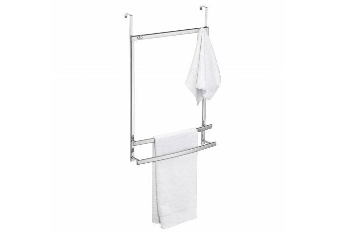 Hangende Handdoekhouder Allibert Ovalys voor deur of douchewandbevestiging Wit
