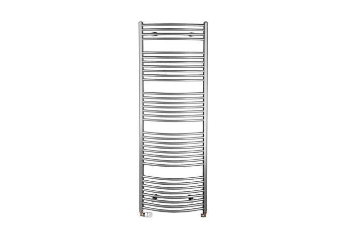 Handdoekradiator Sapho Aqualine Radiators Gebogen 169x60 cm Zilver