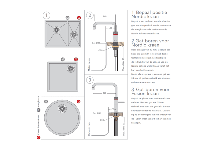 Quooker Fusion Round Steel met PRO3 VAQ-E Boiler