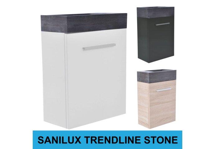 Fonteinkast Sanilux Trendline Stone links draaiend (3 kleuren)