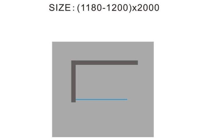 Douchewand Wiesbaden 120x200cm 10mm NANO coating