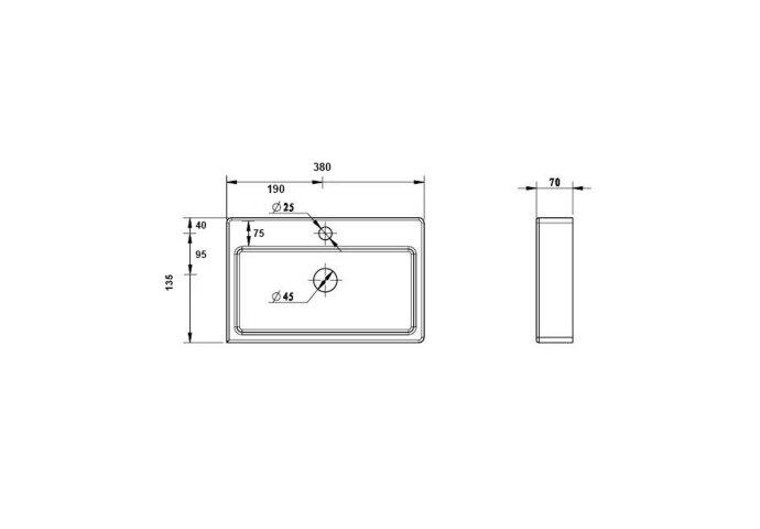 Fonteinset Best Design Skyline One Pack 38x24x7cm