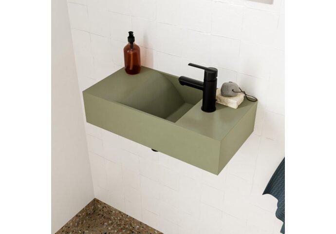 Fontein Salenzi Arro 50x26 cm Mat Legergroen Rechts