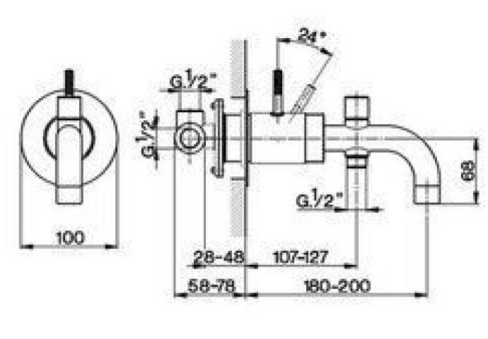 Cisal Step inbouw Badmengkraan rvs ST0011302A