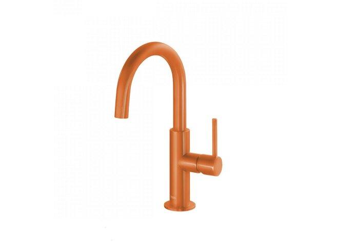Wastafelmengkraan Tres Study Colors 1-Hendel Uitloop Gebogen 28 cm Rond Oranje