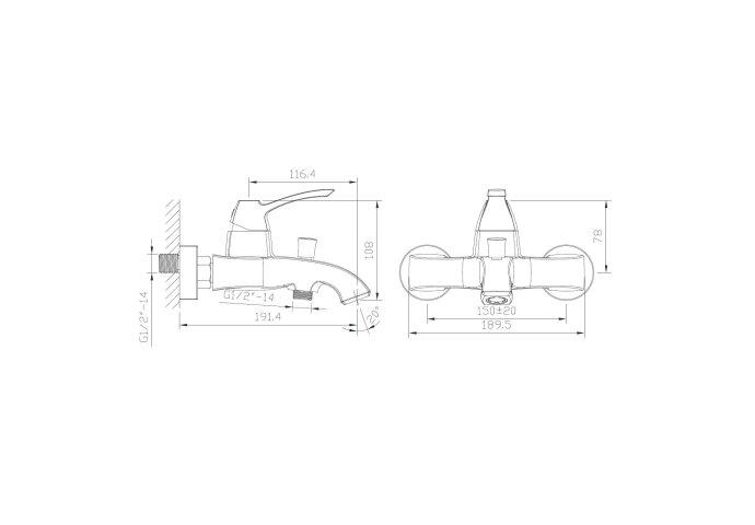 Opbouw Badkraan Sapho Dreamart Mengkraan 1-hendel 19.1 cm Chroom