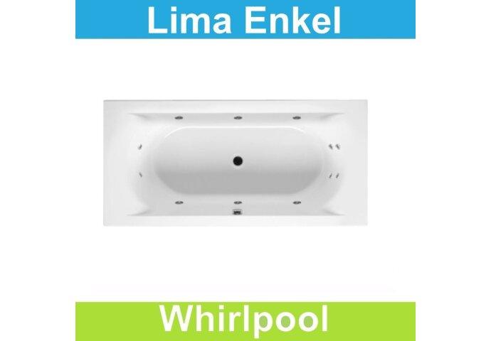Ligbad Riho Lima 180x80 cm Whirlpool Enkel systeem
