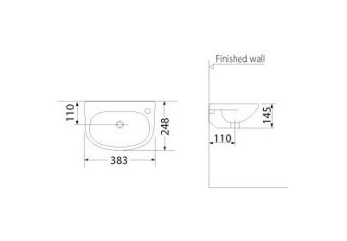 Fontein Trevi 38x25cm wit (Fonteinen)