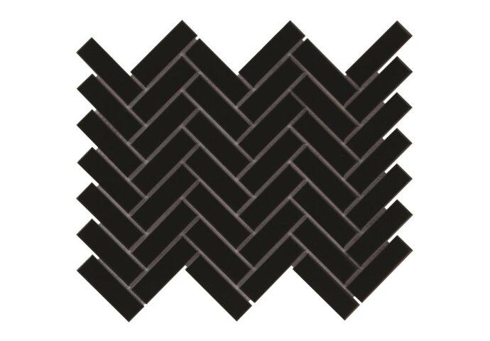Mozaiek tegel  Neith 24,7x31,8 cm Hoogglans Zwart (doosinhoud 0,87 m2)