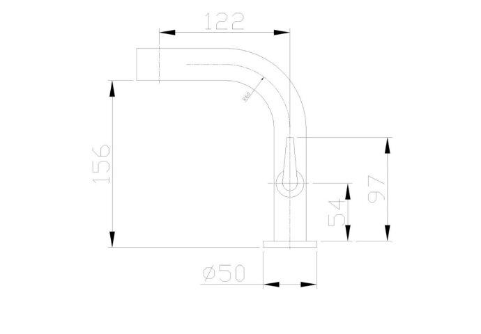 BWS Aditi Toiletkraan 1/2'' Chroom Met Keramisch Binnenwerk
