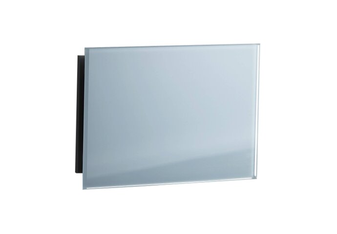 Sunshower Ventilatierooster Rechthoek 11x5 cm Wit Glas (2 stuks)