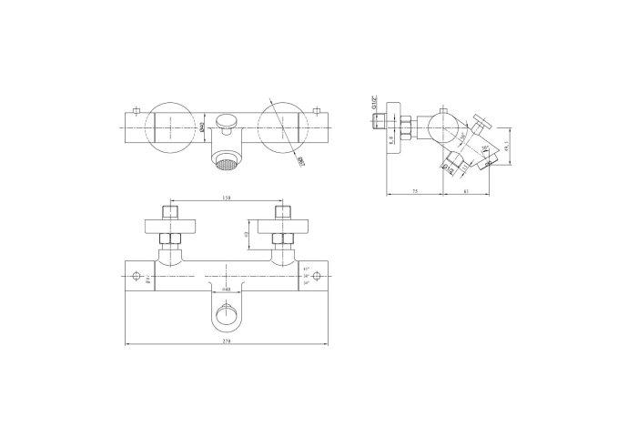 Opbouw Bad thermostaatkraan Best Design Nero 1/2 inch RVS Zwart ADB4004810