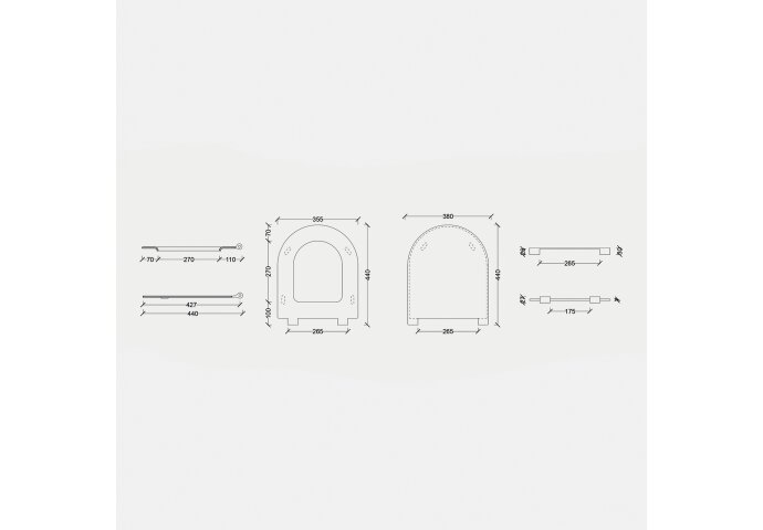 Toiletzitting Salenzi Form Slim Mat Taupe