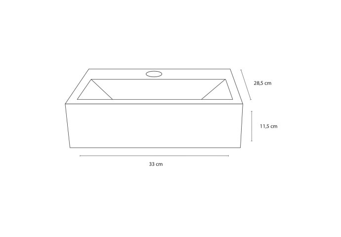 Fonteinset Differnz Argus 11.5x33x28.5 cm Keramiek Wit  (inclusief kraan sifon en afvoer)