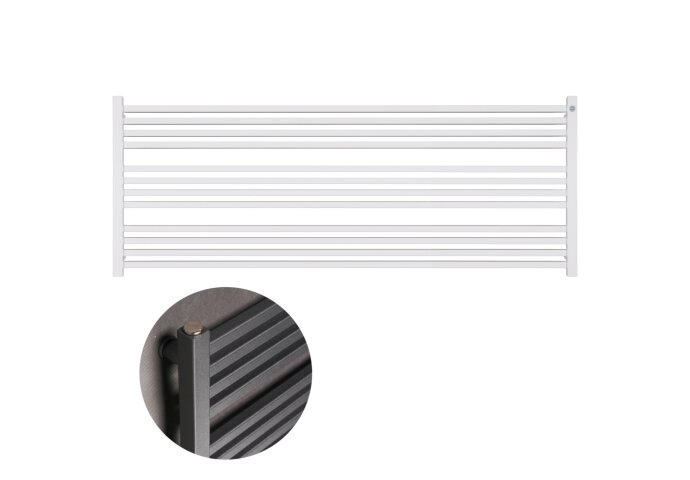 Handdoekradiator IP Bern Wit In 5 Verschillende Maten Horizontaal (Ook in elektrische uitvoering)