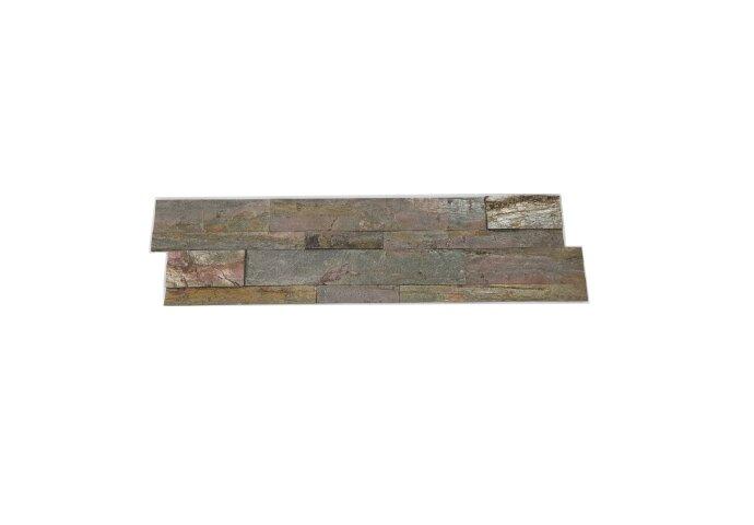 Natuursteen Steenstrips Rockwall Rome Mystique 60x15cm (Doosinhoud 0.90 m2)