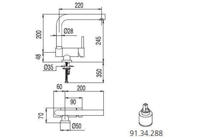 Tres Vensterkraan MAX 130335