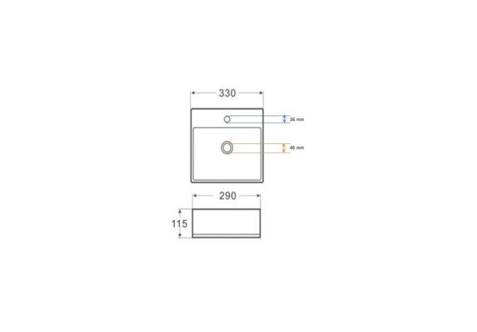 Fontein Boss & Wessing Marmerlook 33.5x29x11.5 cm Keramiek Wit