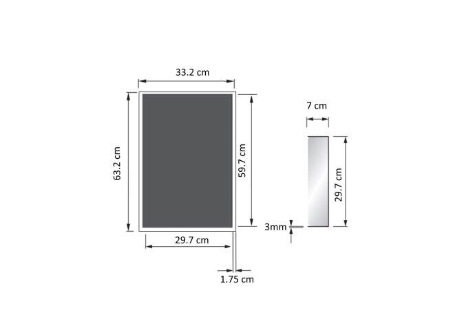 Inbouwnis Sanilux RVS voor in wand 30x60x7cm 2012