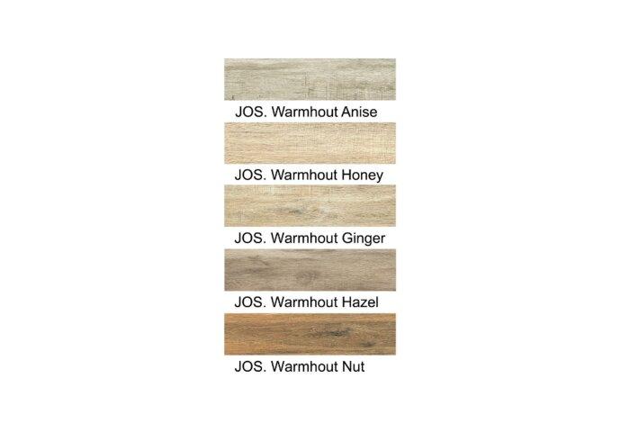 Visgraat Vloertegels Jos. Warmhout Ginger  22.2x89.7 cm (doosinhoud 1.00 m2)