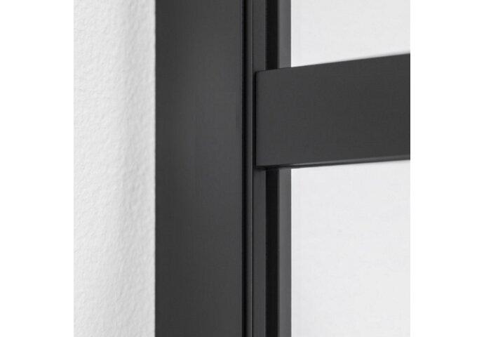 Inloopdouche BWS Black Line 45x200 cm 8mm NANO Glas Mat Zwart Raster
