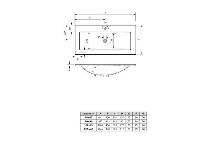 AKTIE! Badmeubel Boss & Wessing Paris 60 cm Compleet Geleverd Hoogglans Antraciet (1 kraangat)