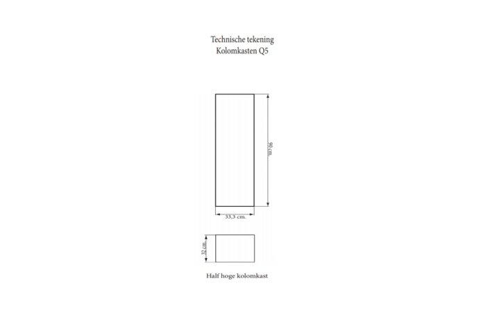 Kolomkast Sanicare Q5 1 Soft-Close Deur 90 cm Schots-Eiken