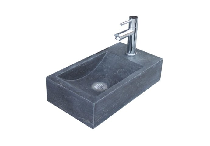 Natuursteen fontein Sanilux Recto 40x22x10cm (kraangat Recht)