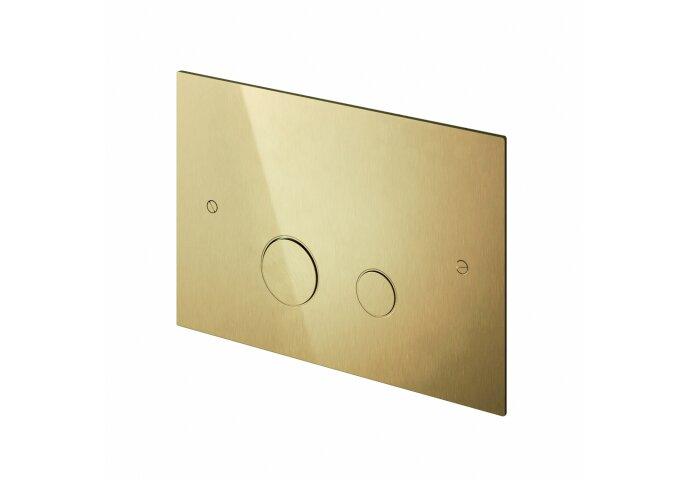 Bedieningspaneel Hotbath Cobber t.b.v. Geberit UP320 Geborsteld Messing PVD