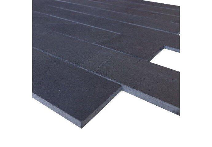 Wandtegel Mustang black leisteen muurstroken 10cm (p/m2) (Wandtegels)