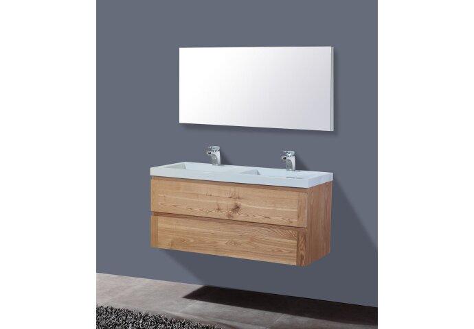 Badkamermeubelset Sanilux Senza Wood 120x47x50 cm Massief Eikenhout