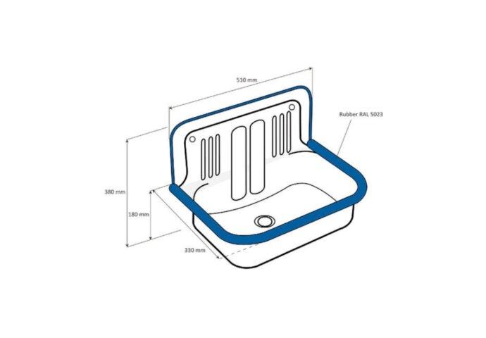 Uitstortgootsteen Plieger Pack Compleet Wit (incl kraan sifon)
