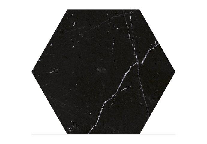 Hexagon Vloertegels Azulejo Carrara Black 22.5x25.9 cm (doosinhoud 0.88m2)